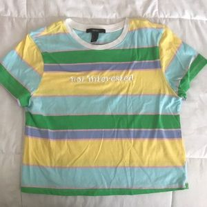 A Large forever 21 crop top